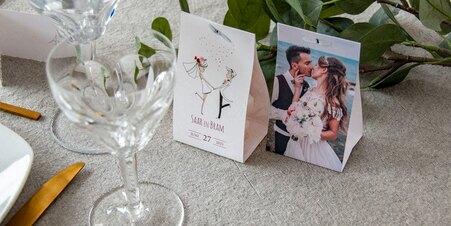 Étui à dragées mariage