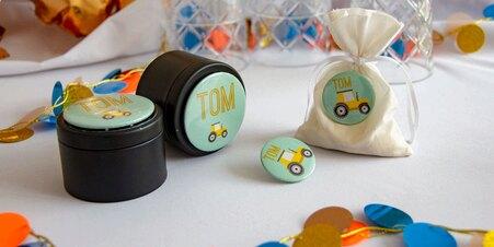 Magnet & badge fête